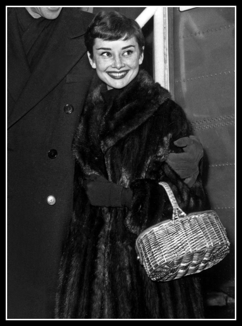 Audrey Hepburn; Fishing Basket
