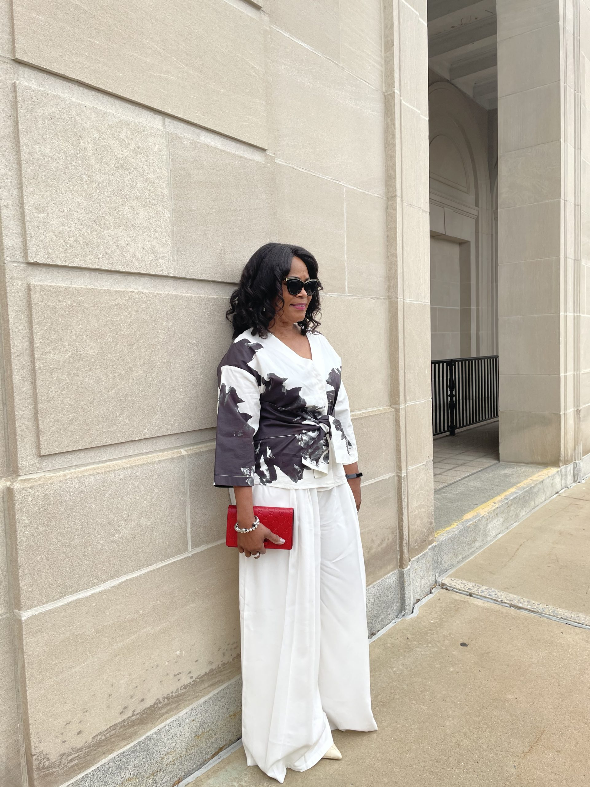 On And Off The Runway Oversized White Wide-Leg Pants
